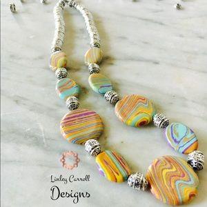 Jewelry - Rainbow Calsilica Necklace